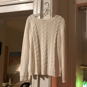 Cream J Crew sweater
